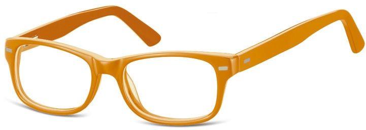 Okulary dziecięce zerówki Nerdy AK49A pomarańczowe