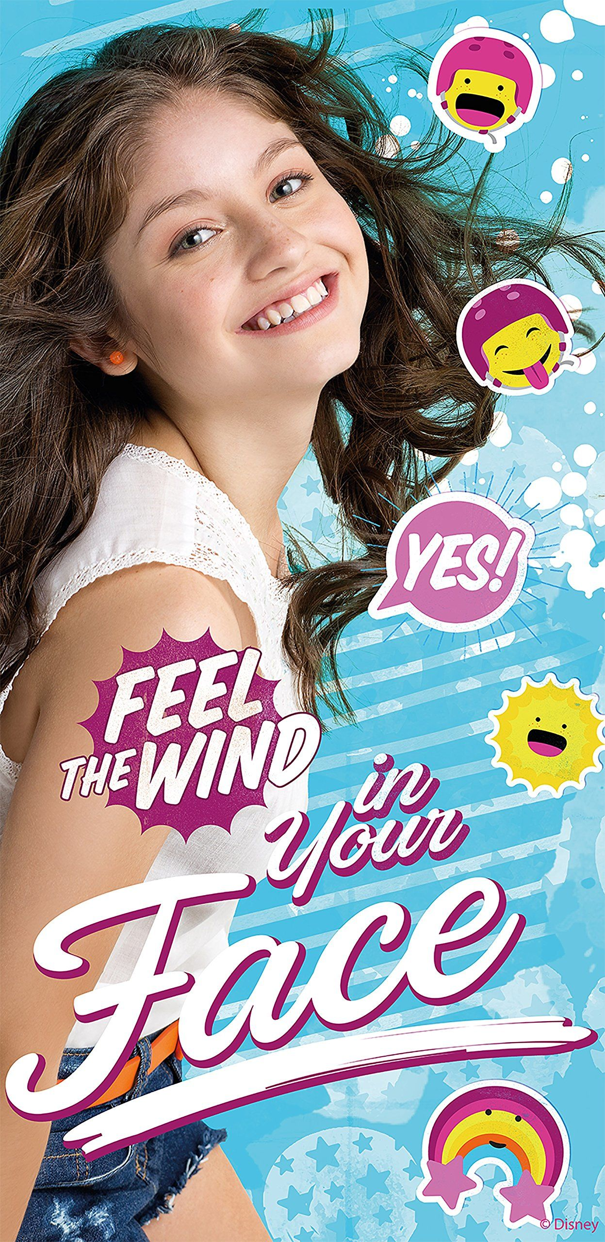 Kids Licensing  wd18052  ręcznik plażowy  Soy Illustrated O Soy Luna  Feel The Wind