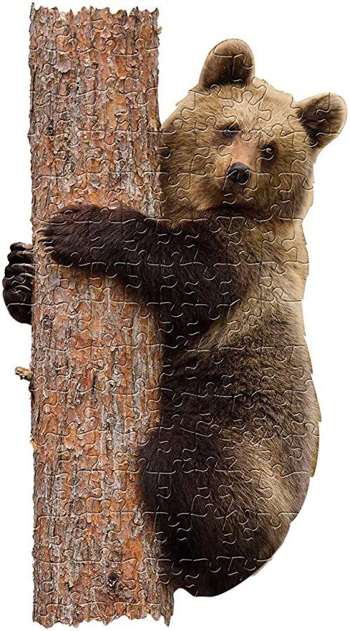 MADD 4003-IAMLBear CAPP 884003 Shape Puzzle Junior niedźwiedź, puzzle konturowe 100 części, dla dzieci i dorosłych, wielokolorowe