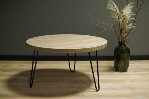 Okrągły stolik kawowy SIMPLE Dąb Brunico