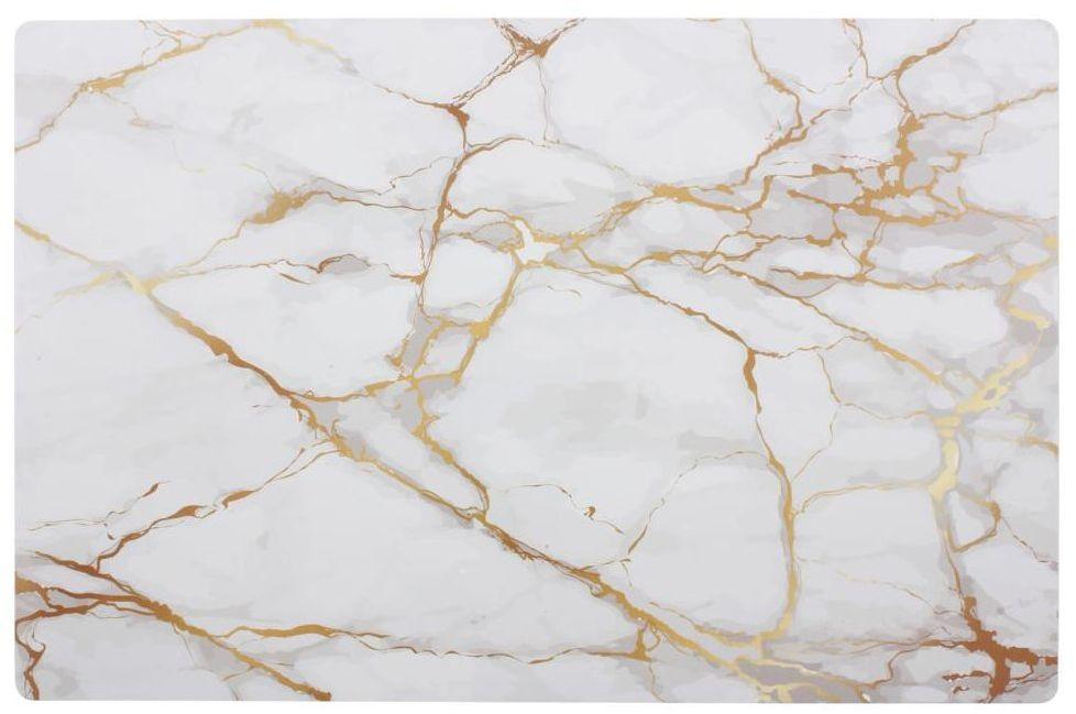 Podkładka na stół Calcite prostokątna 43 x 28 cm biała