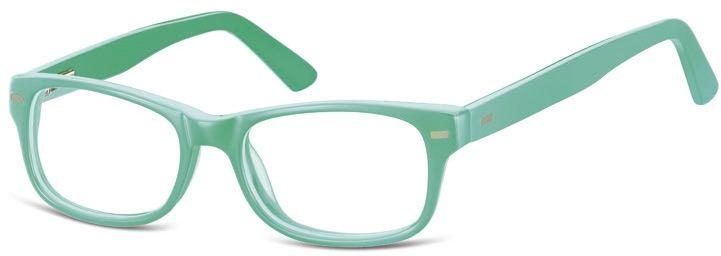 Okulary dziecięce zerówki Nerdy AK49B zielone (miętowe)