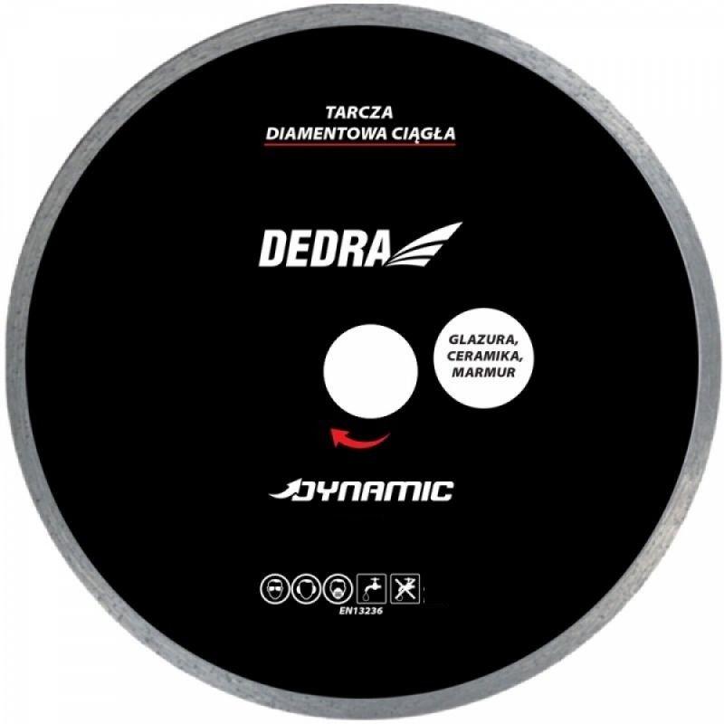 DEDRA Tarcza diamentowa ciągła Dynamic do glazury, ceramiki, kamienia naturalnego 230x22,2mm HP2106