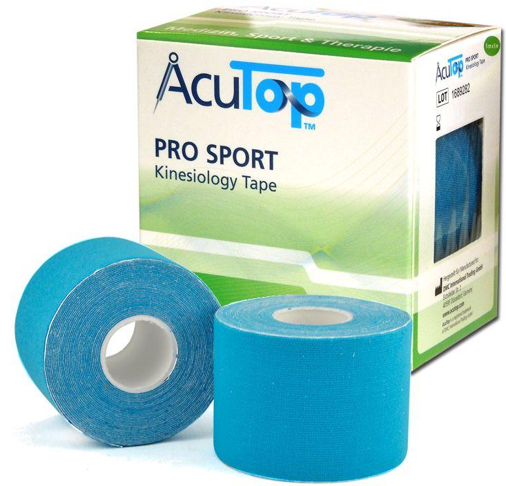 AcuTop PRO SPORT - Wzmocnione Kinesiology tape - niebieskie (ATPS blue)