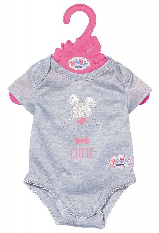 BABY Born - Szare body dla lalki na wieszaczku 827536