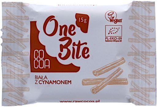 Czekolada Biała z Cynamonem 15g - COCOA EKO