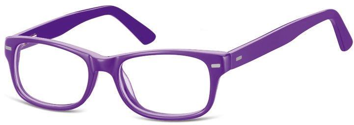 Okulary dziecięce zerówki Nerdy AK49D fioletowe