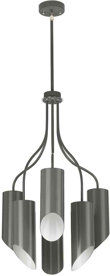 Lampa wisząca Quinto 6 GPN Elstead Lighting nowoczesna oprawa w kolorze szarym
