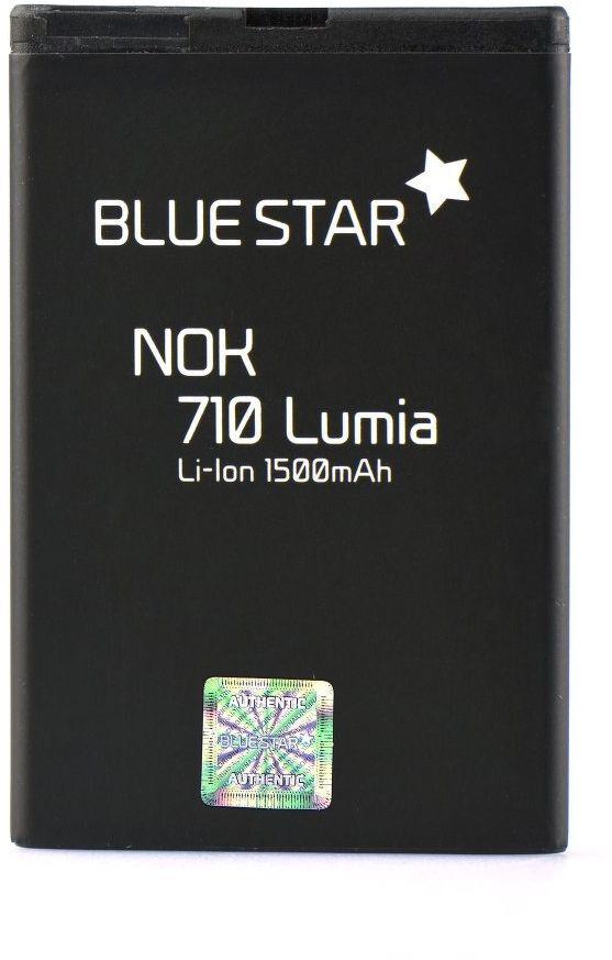 Bateria Premium Blue Star BP-3L do Nokia 603 / Lumia 710 / Lumia 610 1500mAh