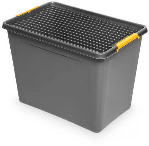 Pojemnik do przechowywania zamykany 390x420x580mm 80,0L ORPLAST SOLIDSTORE BOX szary 1 szt /OR-1742/