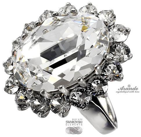 SWAROVSKI piękny pierścionek ROYAL CRYSTAL SREBRO