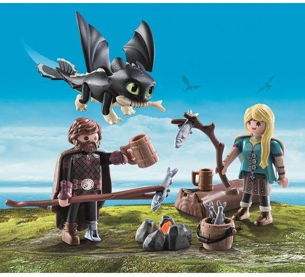 Playmobil - Czkawka i Astrid z małym smokiem 70040