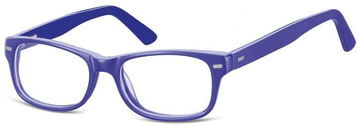 Okulary dziecięce zerówki Nerdy AK49E niebieskie