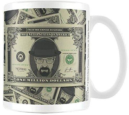 empireposter - Breaking Bad - Dolar Heisenberg - Kubek ceramiczny - Rozmiar około 8,5 cm x 9,5 cm (średnica x wysokość) - licencjonowane kubki