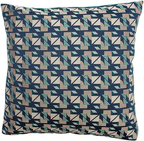 Riva Home Poduszka wypełniona pragą, turkusowa, 50 x 50 cm (20 x 20 cali)