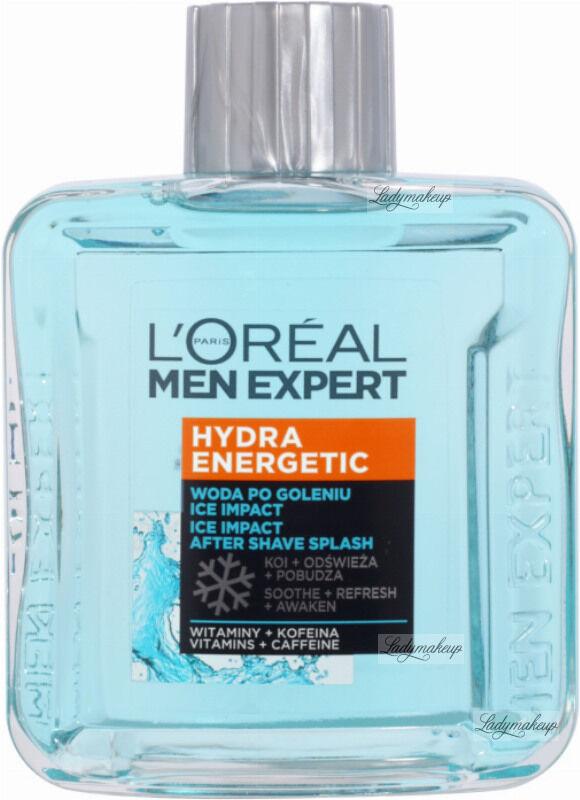 L''Oréal - MEN EXPERT - HYDRA ENERGETIC ICE IMPACT AFTER SHAVE SPLASH - Woda po goleniu ICE IMPACT - 100 ml