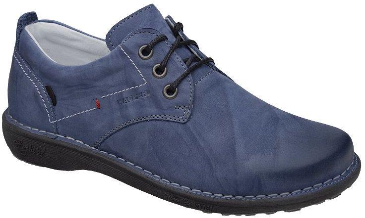 Półbuty KACPER 2-6506-485+217 Niebieskie sznurowane - Niebieski Błękitny