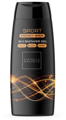 Gabriella Salvete Energy 4Men Sport 3in1 żel pod prysznic 250 ml dla mężczyzn
