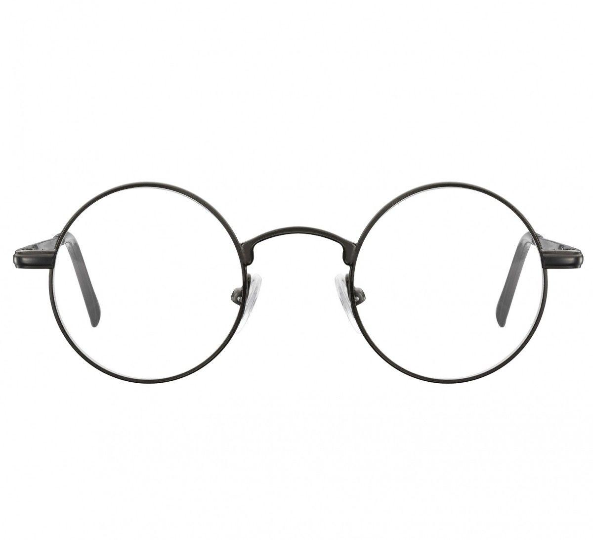 Okulary dziecięce zerówki okrągłe lenonki M5 czarny