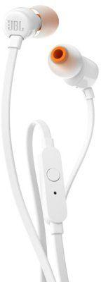 Przewodowe słuchawki dokanałowe JBL T110 Biały