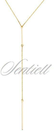 Srebrny naszyjnik pr.925 pozłacany - żółte złoto