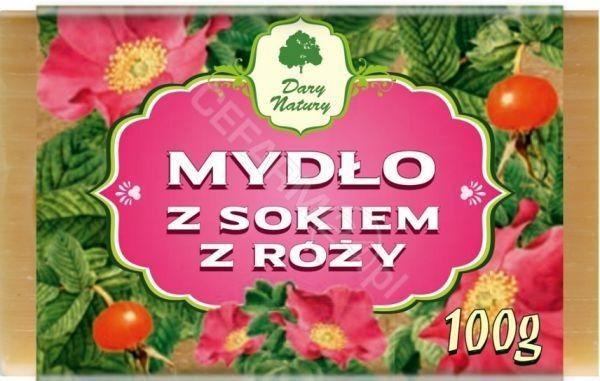 DARY NATURY Mydło z Sokiem z Róży 100 g