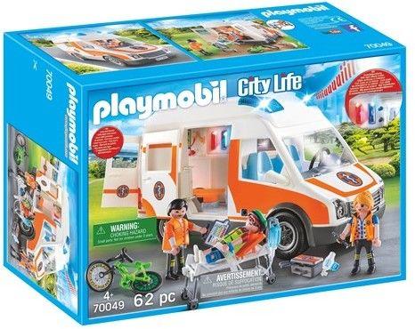 Playmobil - Karetka ze światłem i dźwiękiem 70049