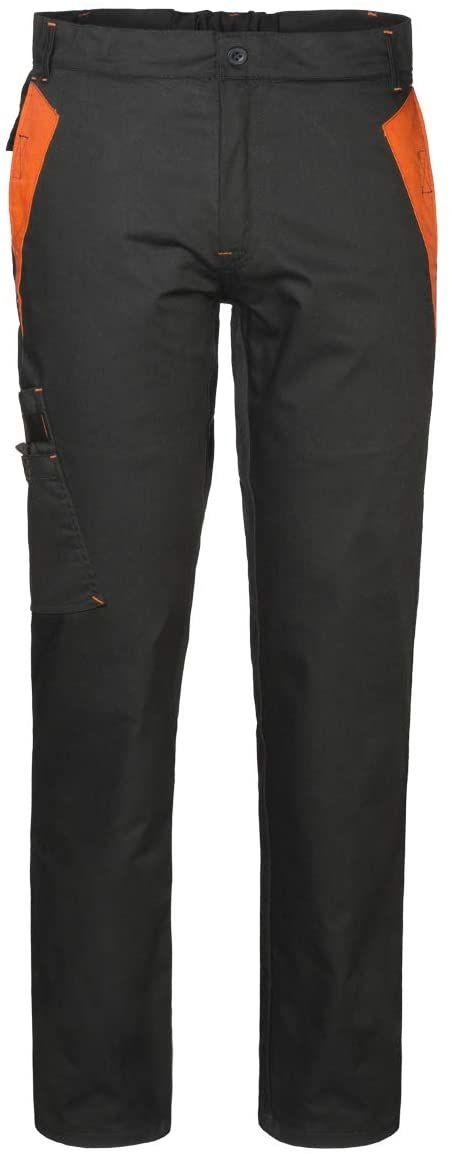 Rossini Trading S.p.a. spodnie uniseks ze srebrnego kamienia, czarny/pomarańczowy, XL