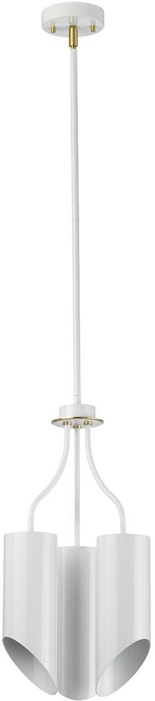 Lampa wisząca Quinto 3P WAB Elstead Lighting nowoczesna oprawa w kolorze białym
