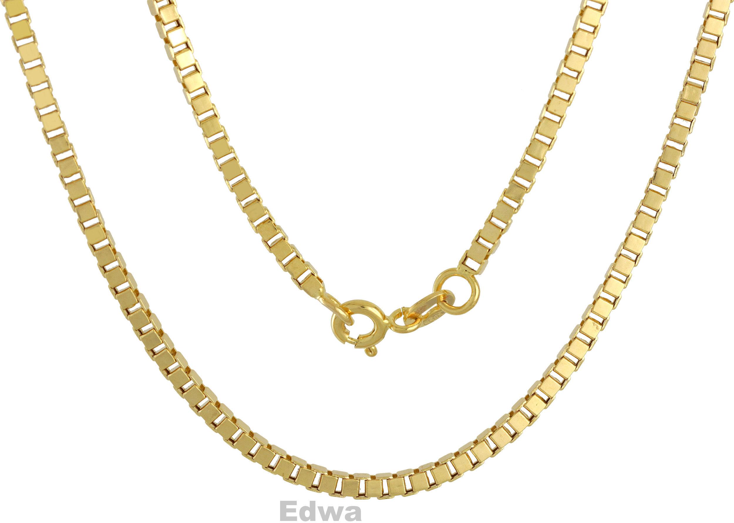 Łańcuszek złoty kostka pr.585. 55 cm