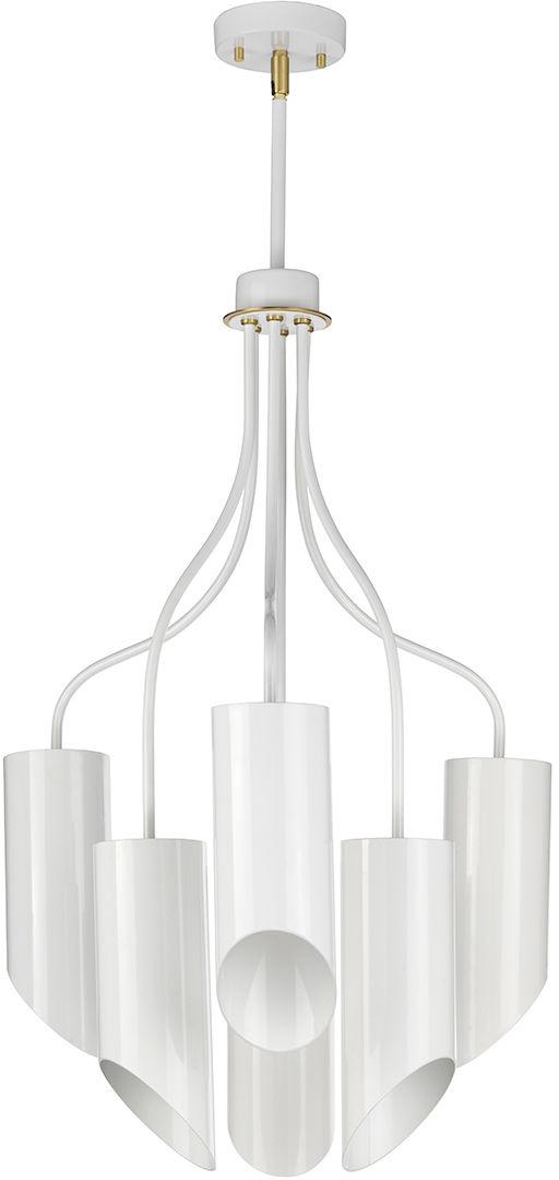 Lampa wisząca Quinto 6 WAB Elstead Lighting nowoczesna nowoczesna oprawa w kolorze białym