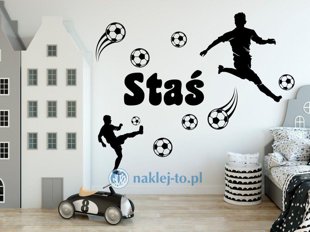 naklejka Piłkarze zestaw z imieniem naklejka na ścianę poiłkarze zestaw