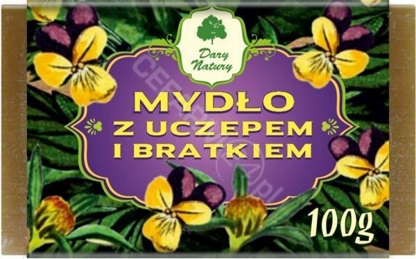 DARY NATURY Mydło z Uczepem i Bratkiem 100 g