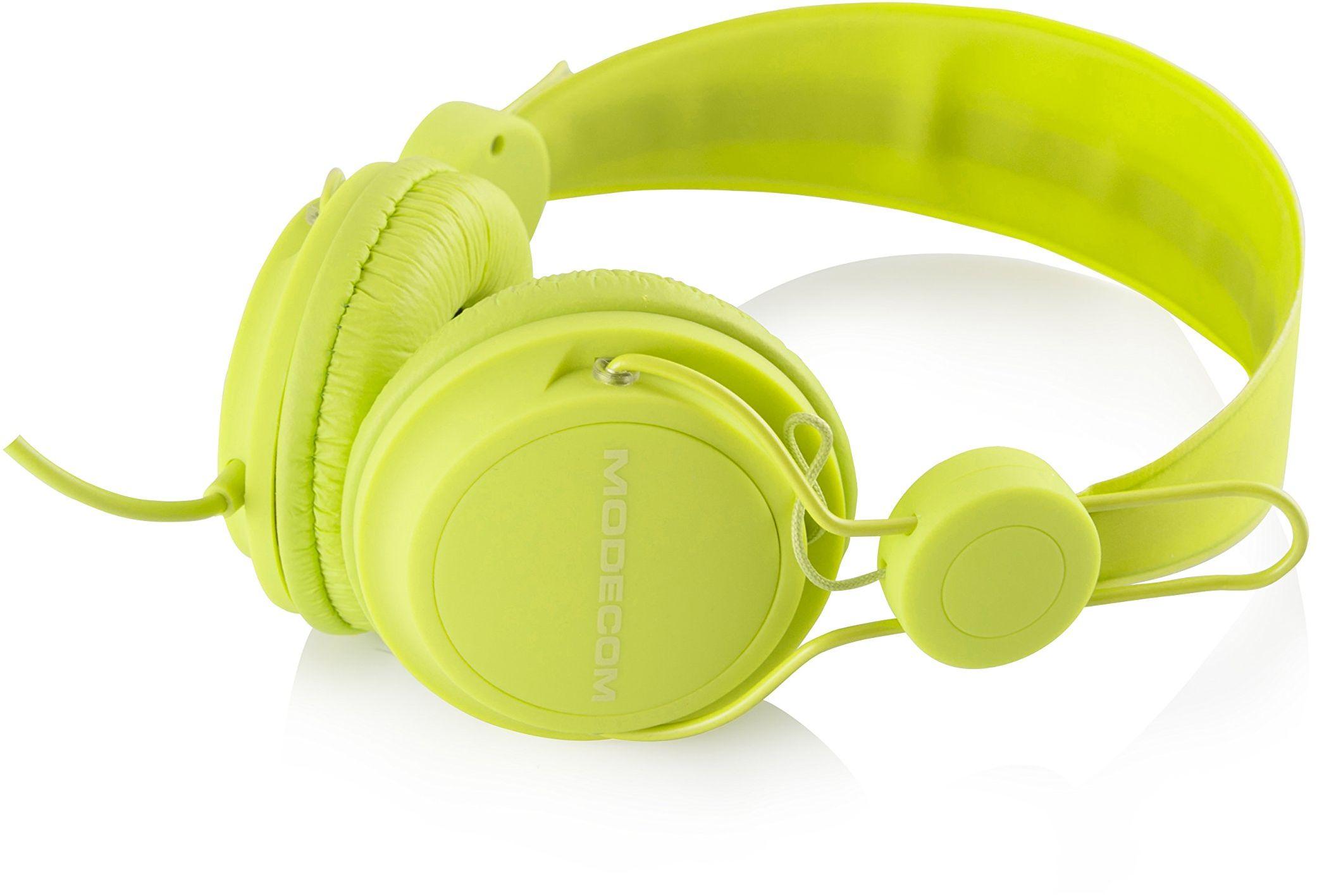 """MODECOM 00066 słuchawki z mikrofonem""""MC-400 FRUITY"""" zielone"""