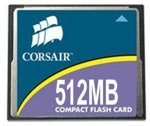 Corsair Compact Flash (CF) 512 MB 40x karta pamięci Speed