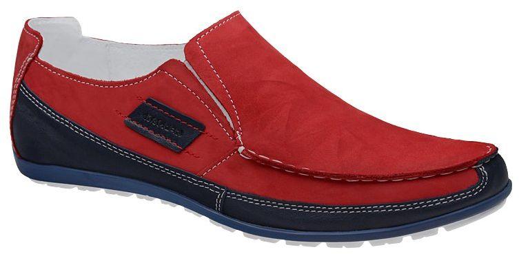 Mokasyny KACPER 1-0795-136+489 Czerwone Sailor