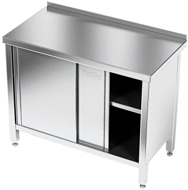 Stół roboczy nierdzewny z szafką