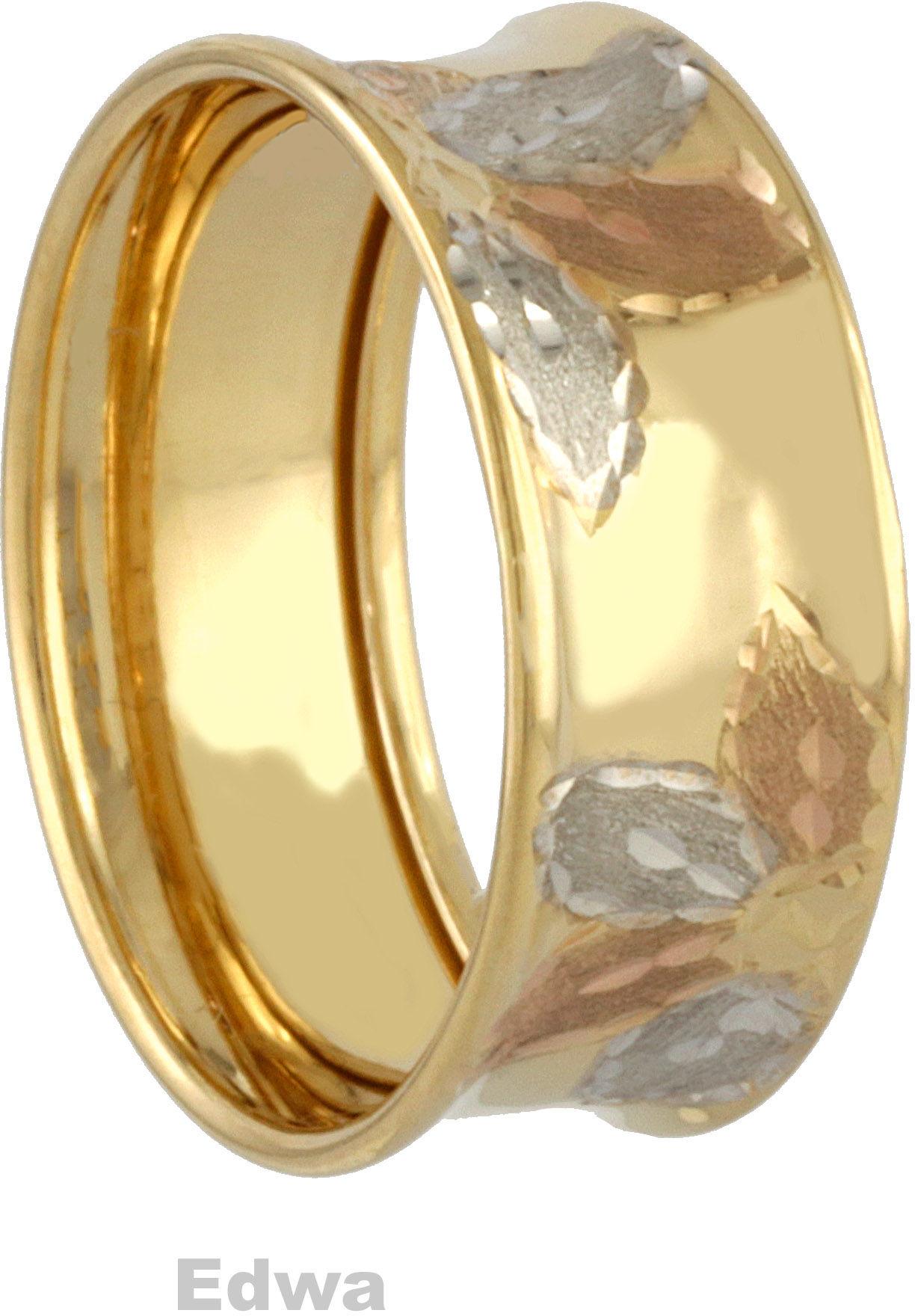 Pierścionek złoty obrączka pr.585. roz.18