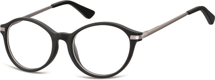 Okulary dziecięce zerówki okrągłe lenonki AK50 czarne