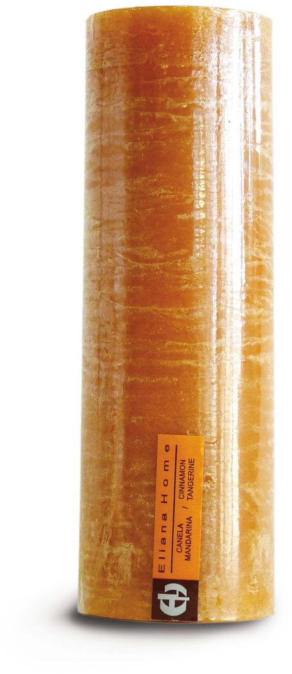 Eliana Home 673025  rustykalna świeca o zapachu cynamonu i mandarynki, 7 x 20 cm