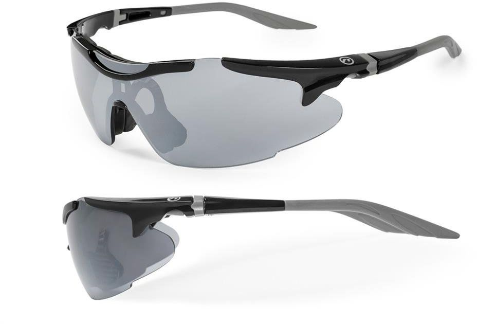 Okulary Accent Voyager czarno-grafitowe 2 pary soczewek