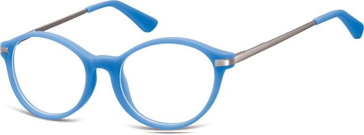 Okulary dziecięce zerówki okrągłe lenonki AK50A niebieskie