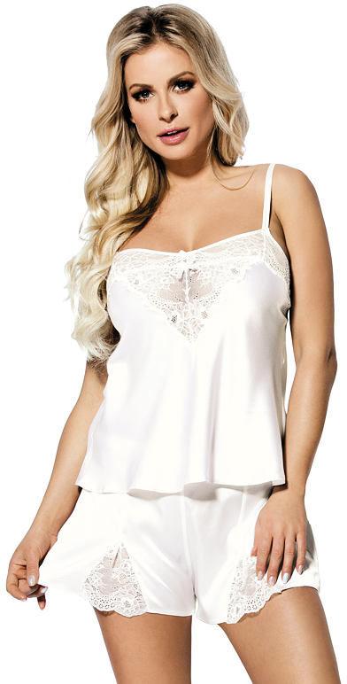 Biała satynowa piżama