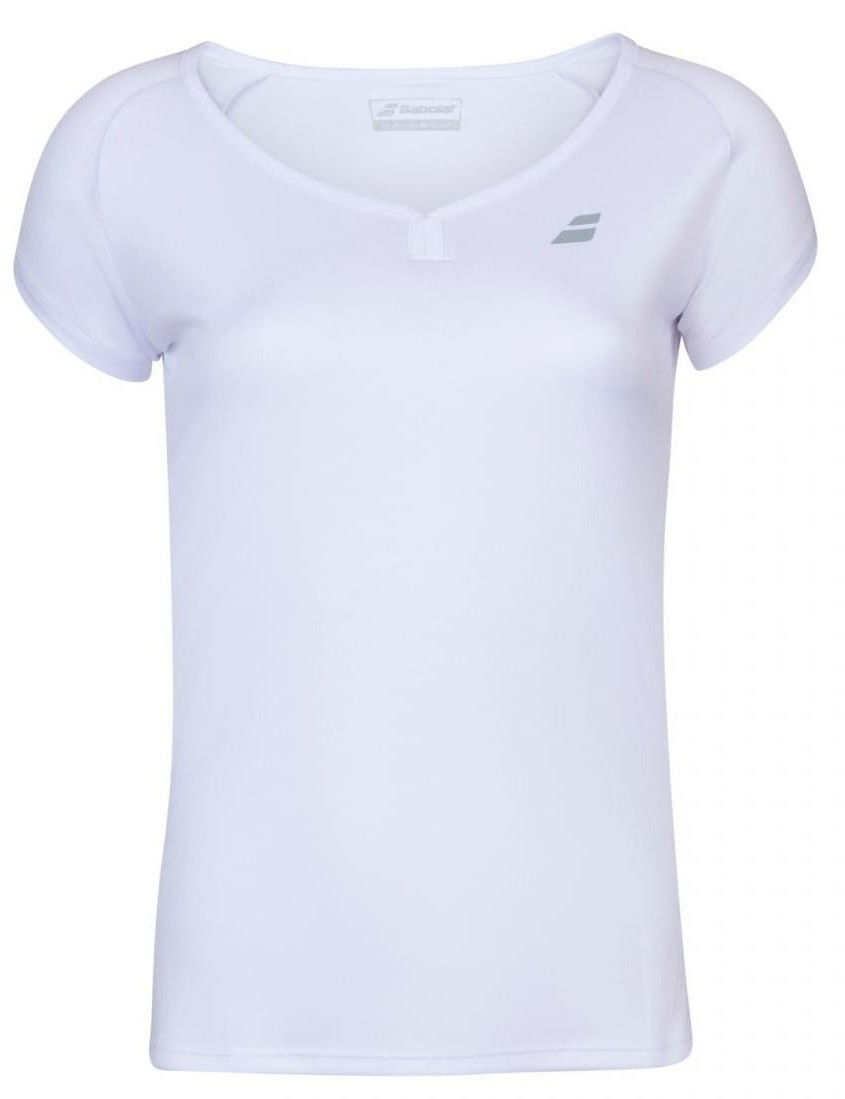 Babolat Play Cap Sleeve Top Girl - white