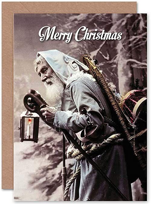 Wee Blue Coo Kartka bożonarodzeniowa, prezent na Boże Narodzenie, Mikołaj