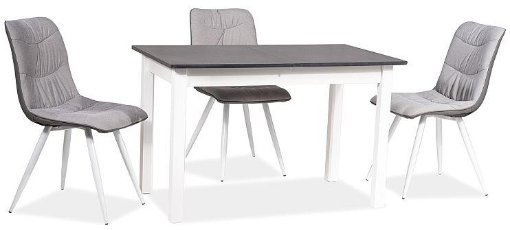 Stół HORACY 100(140)x60 antracyt/biały mat rozkładany  KUP TERAZ - OTRZYMAJ RABAT
