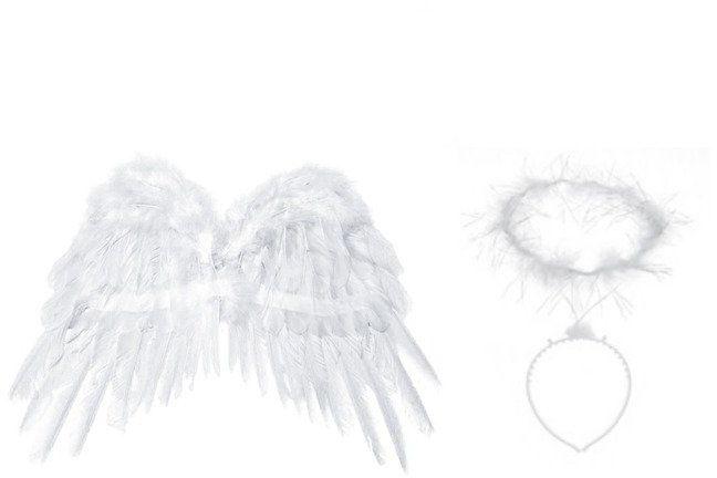 Zestaw Skrzydła Anioła z Aureolką SK1-008 + OP11