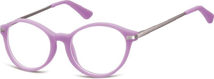 Okulary dziecięce zerówki okrągłe lenonki AK50E fioletowe