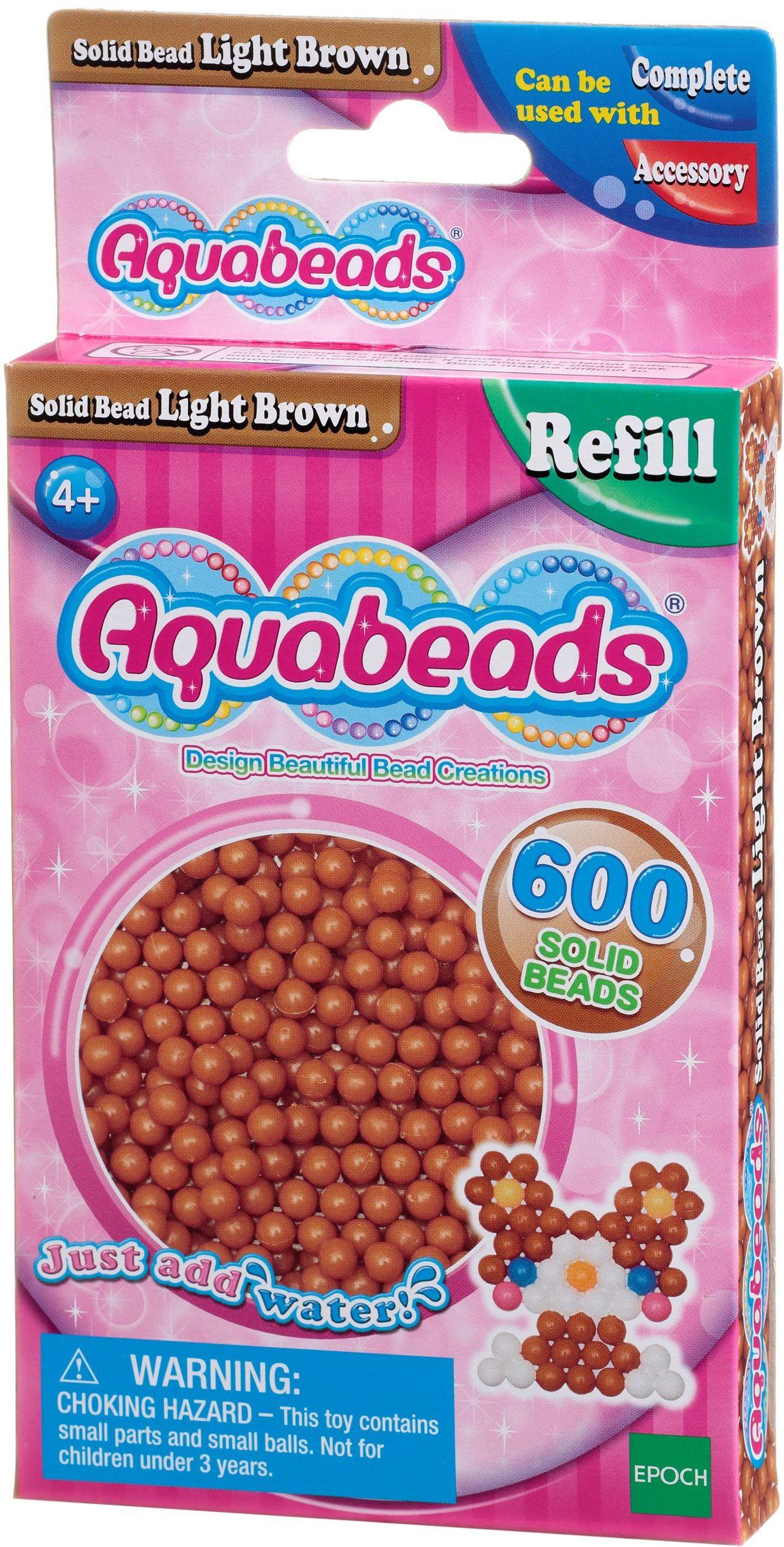 Aquabeads 32608 jasnobrązowe perły - zestaw uzupełniający