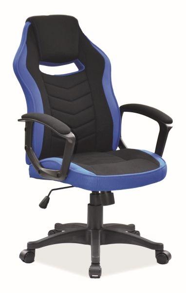 Fotel biurowy CAMARO czarny/niebieski  Kupuj w Sprawdzonych sklepach